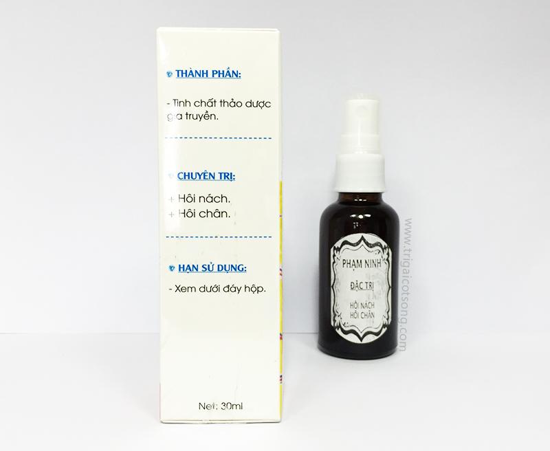 Thảo dược đặc trị mùi hôi cơ thể gia truyền Phạm Ninh (dạng xịt)