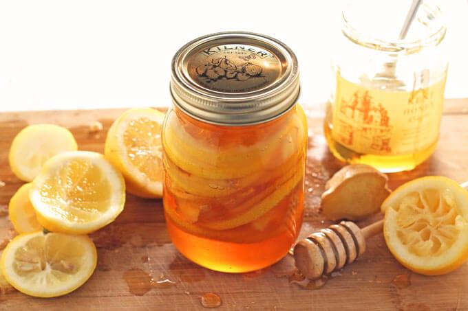 cách dùng gừng và mật ong trị viêm họng